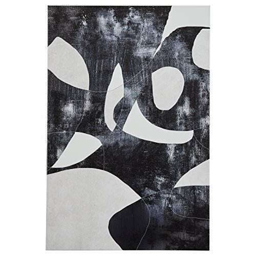 Black and White Abstract Canvas Print, 24'' x 36'' by Rivet