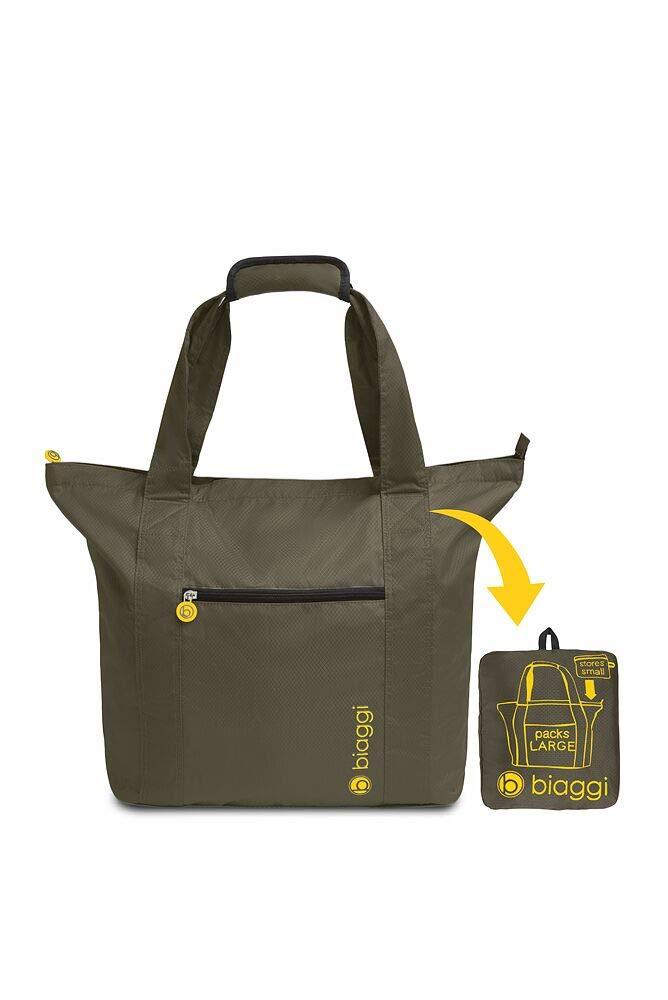 Biaggi Paksak Packable Tote Bag - As Seen on Shark Tank - Olive - 21-Inch