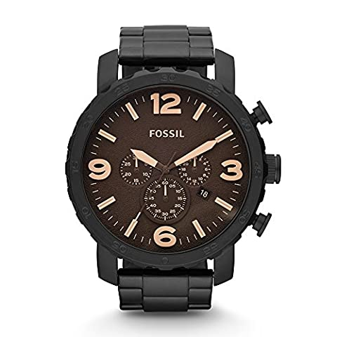 Fossil JR1356 Nate Stainless Steel Watch Black (Fossil Watchs Nate)