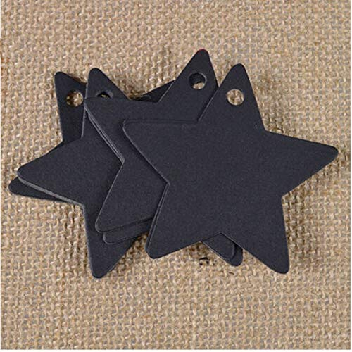 Party Favors - 100pcs Lot Star Kraft Paper Wedding Christmas Halloween Party Favor Gift Card Handmade Label - Guns Space Birthday Puzzles Friendly Boys Animals Rose Organza Slime Women Boxes -
