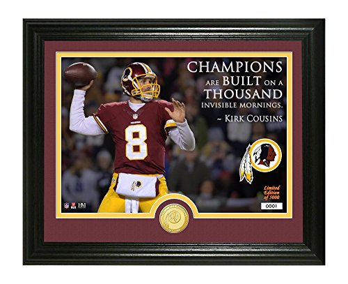 NFL Washington Redskins Kirk Cousins Quote Bronze Coin Photo Mint, 17