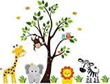 JUNGLE SAFARI ANIMALS Baby Shower Idea Birthday Party Edible Frosting Image 1/2 sheet Cake Topper