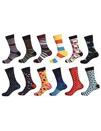 12 pares de calcetines de vestir para hombre.
