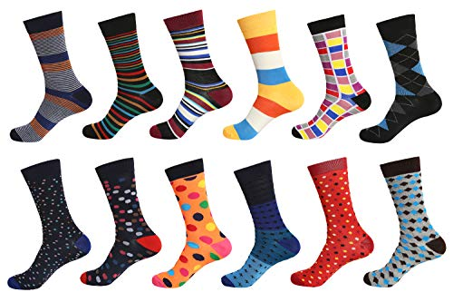 12 Pairs Men Dress Socks W937G-Magic