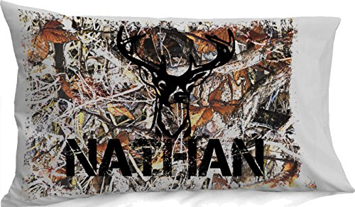 Personalized Camo Pillowcase  for Kids Camouflage Bedding Cu