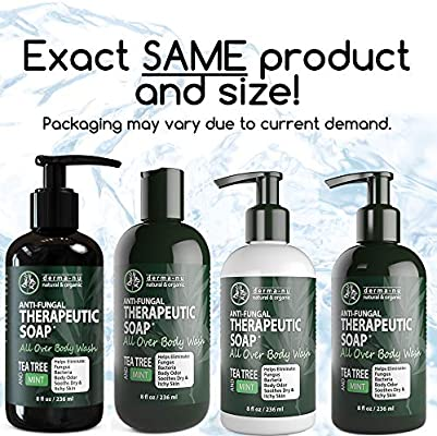 Antifungal Antibacterial Soap Body Wash Natural Fungal Treatment With Tea Tree Oil For Jock Itch Athletes Foot Body Odor Nail Fungus Ringworm Eczema Back Acne For Men And