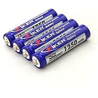 Emaks 4x Replacement Rechargeable Cordless Phone Batteries for Panasonic HHR-75AAAB5B HHR-55AAABU HHR-65AAABU [1.2V 1250mAh ]
