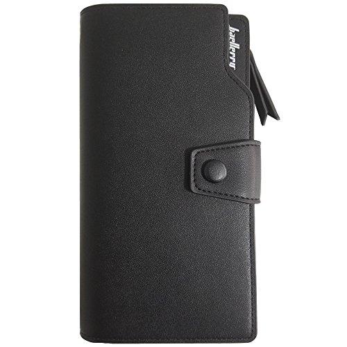 Blocking RFID Holder Leather Purse Wallet Black Multi Women Clutch Card Ladies fOOdxPwq