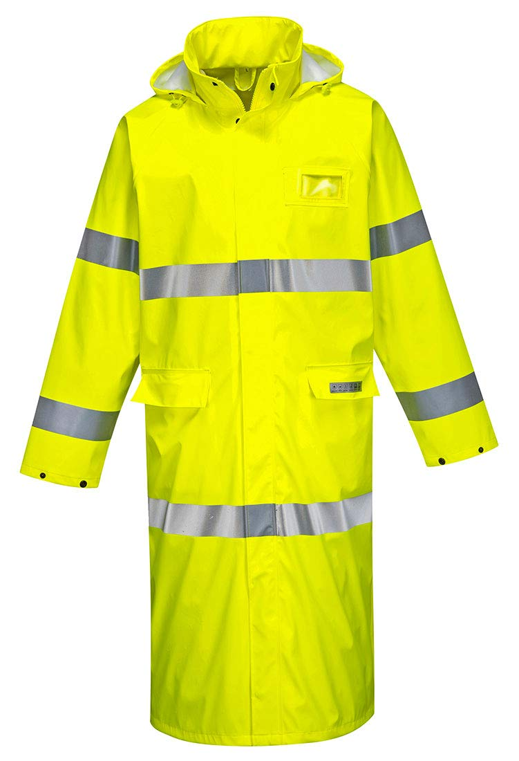 Portwest Sealtex Flame Hi-Vis Coat50Reflective Safety Work Construction Security ANSI 3, 4XL Yellow by Portwest