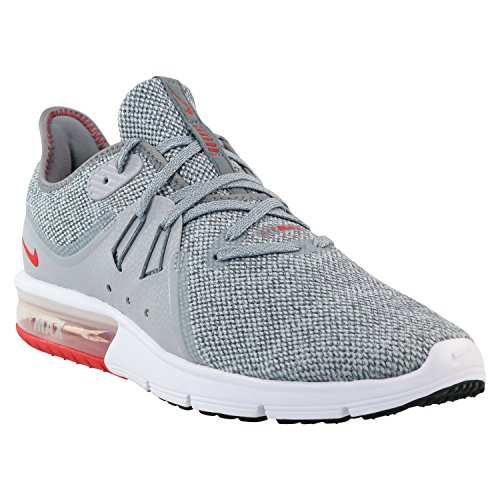 Nike Men's Air Max Sequent 3 Running Shoes Cool Grey/University Red 7 by Nike (Image #3)