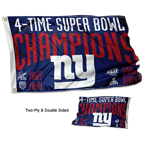 WinCraft New York Giants Double Sided 4 Time Super Bowl Cham