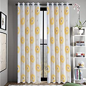 Amazon yellow flower curtains for living room anady top 2 yellow flower curtains for living room anady top 2 panel bright flower decro short curtains drapes 24 inch longcustomized available mightylinksfo