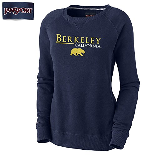 Shop College Wear UC Berkeley Cal Women's Embroidered Crew Neck Sweatshirt - Navy