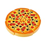MagiDeal Childrens/Kids Plastic 6pcs Pizza Slices Pretend Food Kitchen Role Play Toys
