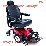 Pride Mobility - Jazzy Select 6 - Power Chair - Jazzy Red - PHILLIPS POWER PACKAGE TM - TO $500 VALUE
