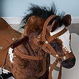Qaba Kids Metal Plush Ride-On Rocking Horse Chair