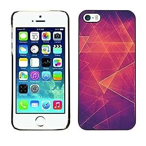 [Neutron-Star] Snap-on Series Teléfono Carcasa Funda Case Caso para iPhone 5 / 5S [Abstracto anaranjado caliente Polígono]