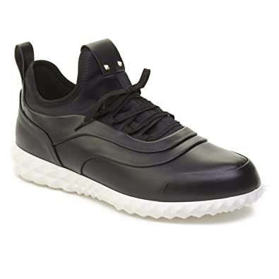 Valentino Men s Leather Rockstud Trainer Sneaker Shoes Black  Amazon.co.uk   Shoes   Bags 9afef9aefac3