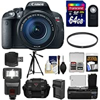 Canon EOS Rebel T5i Digital SLR Camera & EF-S 18-135mm IS STM Lens with 64GB Card + Flash + Grip + Battery & Charger + Tripod + Case + Filter + Kit Explained Review Image