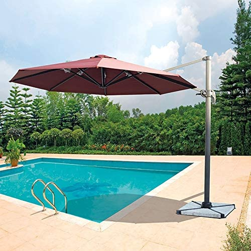 Placehap - Parasol de Aluminio para jardín (3 m, rotación de 360 ...