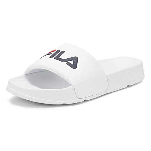 093f0ae0a Fila Drifter Mens Slide Sandals in White Navy Red - 5 UK  Amazon.co.uk   Shoes   Bags