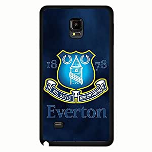 Samsung Galaxy Note 4 Case,Everton Football Club Logo Protective Phone Case Black Hard Plastic Case Cover For Samsung Galaxy Note 4