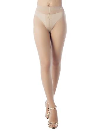 3bc95f94f88 iB-iP Women s T shape darkened crotch everyday Mid Waist Sheers Tights  Pantyhose