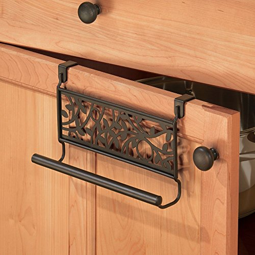 InterDesign Vine Over-the-Cabinet Kitchen Dish Towel Bar