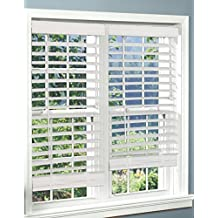 Corded, 2 inch Faux Wood Blind,  White, 46W x 48L