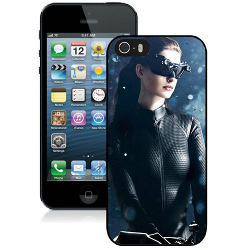 Coque,Fashion Coque iphone 5S Anne Hathaway Catwoman Noir Screen Cover Case Cover Fashion and Hot Sale Design
