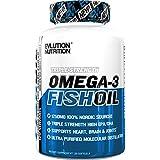 Evlution Nutrition Omega 3 Fish Oil 1250mg   HIGH EPA 450mg + DHA 300mg Triple Strength Burpless Capsules   120 Pills