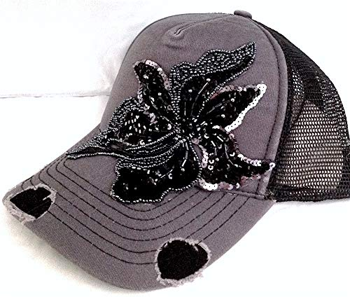 Cap Cotton Swarovski (Shop DAYLE Women's Hat with Swarovski Applique Bling)