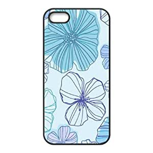 Pink Floral The Unique Printing Art Custom Phone Case for Iphone 5,5S,diy cover case ygtg570838