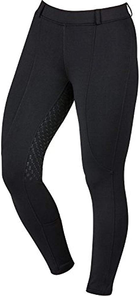 Navy Blue Dublin Performance Flex Knee Patch Childs Riding Tights
