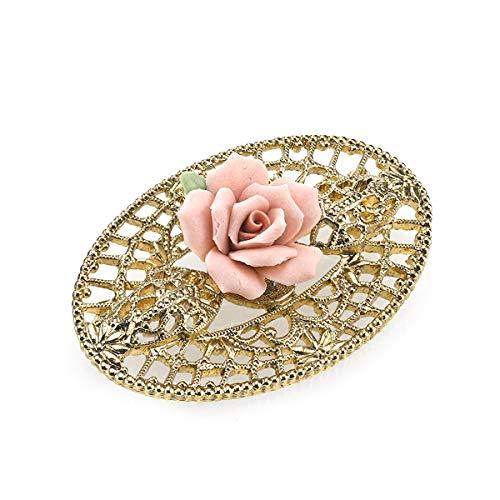 Gold Tone Filigree Brooch - 1928 Jewelry
