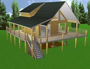 Easy cabin designs 20x24 cabin w loft plans for Easy cabin designs