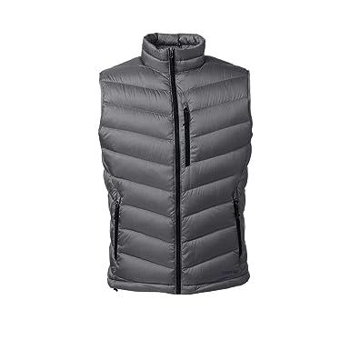 2807fdbe315 Lands' End Men's 800 Down Packable Vest, XXL, Arctic Gray at Amazon ...