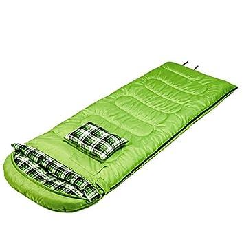 Yunshangauto - Saco de dormir con almohada, ligero, portátil, impermeable, cómodo con