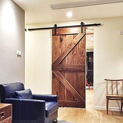 homedeco hardware 8 ft Industrial puerta corrediza de madera ...