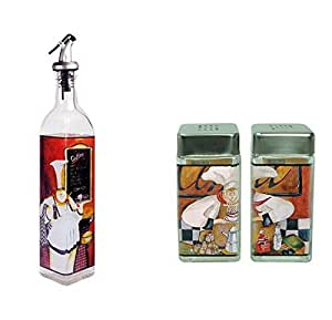 Grant Howard French Chef Cruet and Salt and Pepper Shaker Combo