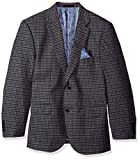 Alexander Julian Colours Men's Big and Tall Single Breasted Modern Fit Check Suit Jacket, Grey/Blue, 44 Short