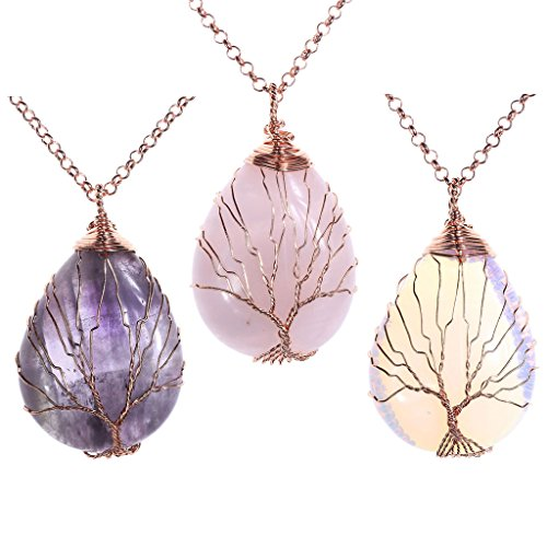 Top Plaza Gemstone Teardrop Necklace