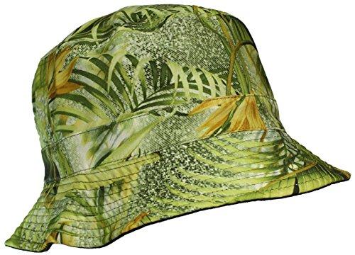 E-Flag Original Adult Reversible Hawaiian/Tropical Lightweight Cotton Bucket Hat - Green