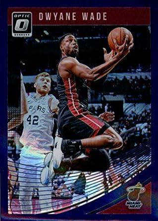 b17952fd 2018-19 Donruss Optic Purple #15 Dwyane Wade Miami Heat Basketball Card