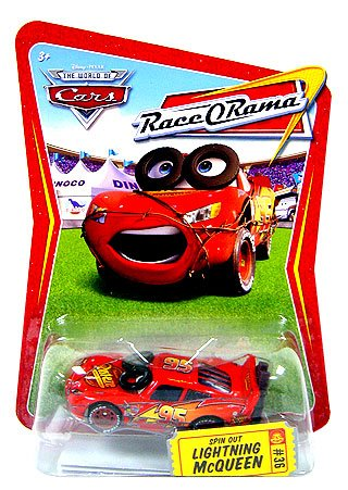 Disney Pixar Cars Race-orama Spin Out Lightning Mcqueen