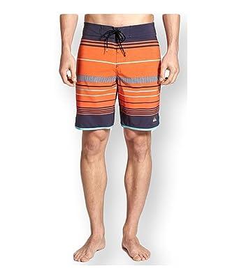 aeb4e6b9b7 Amazon.com: Quiksilver Mens Ag47 Pacific Stripe Swim Bottom Board Shorts:  Clothing