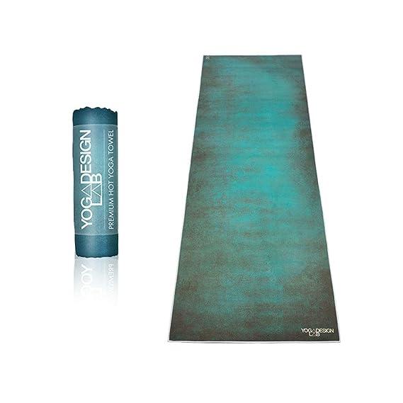 Yoga Design Lab | Toalla de Yoga | Suave y Acolchada | Antideslizante | Absorbente | Hecho de Microfibra de Botellas recicladas | Diseñada con tintas ...