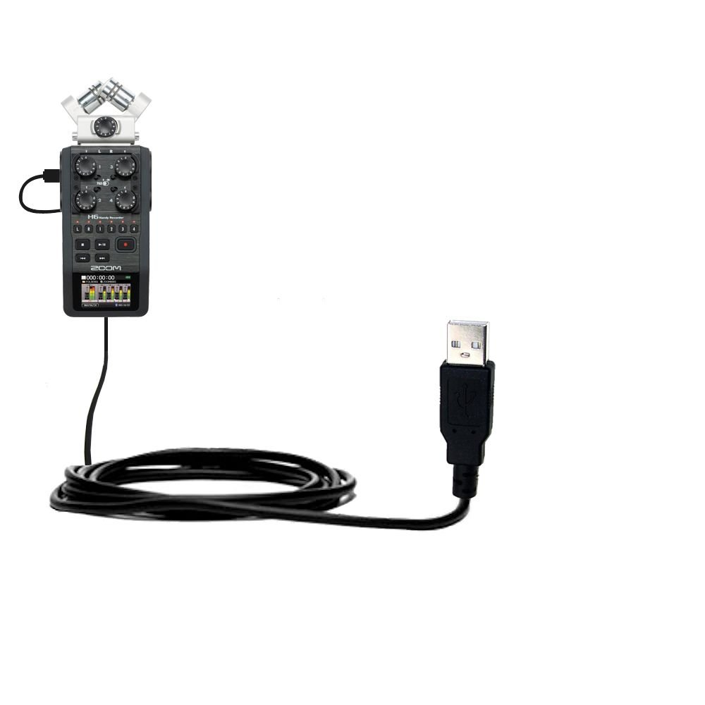Classic Straight USB Cable Suitable for The Zoom H6 with Power Hot Sync and Charge Capabilities Uses Gomadic TipExchange Technology