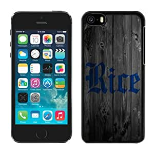 Designer Graceful Wood-like Back Shell Cover for Iphone 5c Ncaa Conference USA Rice Owls 1 Cheap Cell Phone Accessories Protective Case