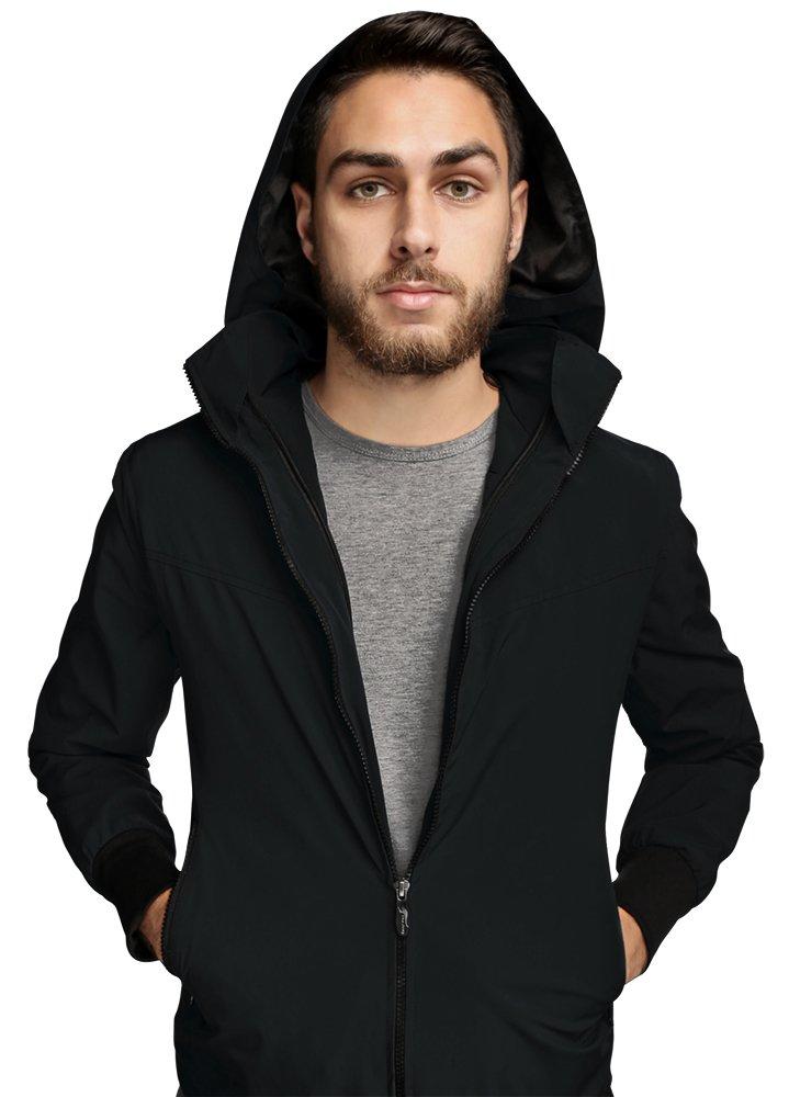 Joey Travel Jacket with Hidden Pockets (Men's) (Small, Black)